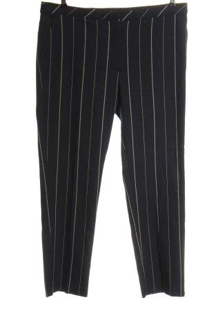 Mango Suit Stoffhose schwarz-wollweiß Streifenmuster Casual-Look