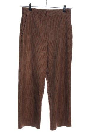 Mango Suit Stoffhose braun Karomuster Business-Look