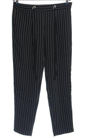 Mango Suit Stoffhose schwarz-weiß Streifenmuster Casual-Look
