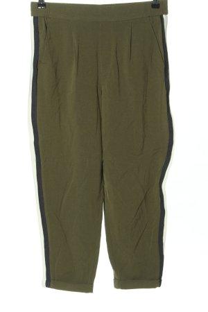 Mango Suit Stoffhose khaki Streifenmuster Casual-Look