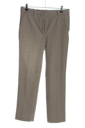Mango Suit Stoffhose braun-creme Karomuster Casual-Look