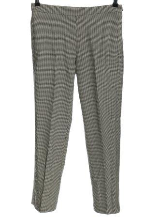 Mango Suit Stoffhose weiß-schwarz Karomuster Business-Look