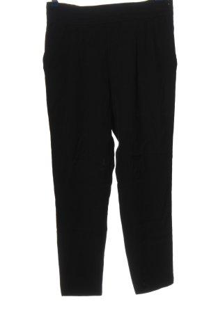Mango Suit Stoffhose schwarz Webmuster Casual-Look