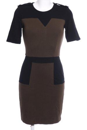 Mango Suit Stretchkleid braun-schwarz Casual-Look