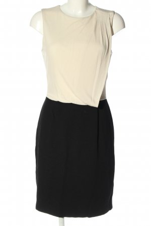 Mango Suit Stretchkleid wollweiß-schwarz Business-Look