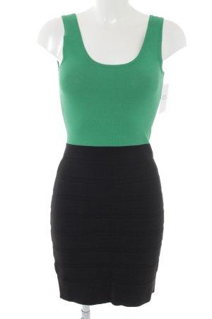 Mango Suit Stretchkleid grün-schwarz Casual-Look