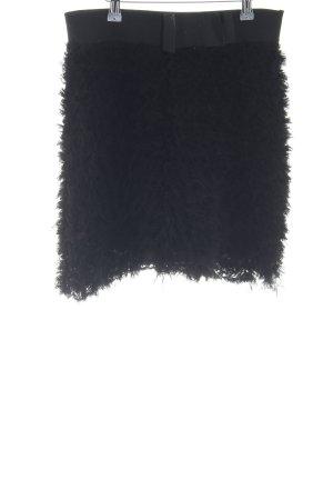 Mango Suit Stretchrock schwarz extravaganter Stil