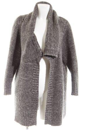 Mango Suit Strick Cardigan braun-wollweiß meliert Casual-Look