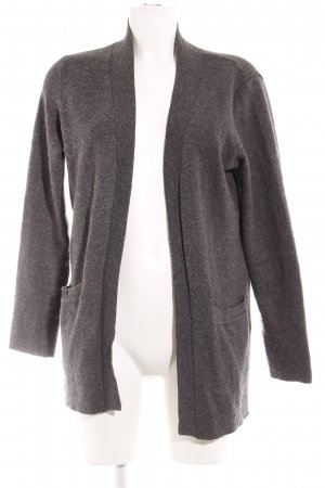 Mango Suit Strickjacke dunkelgrau Casual-Look