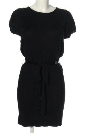 Mango Suit Strickkleid schwarz Casual-Look