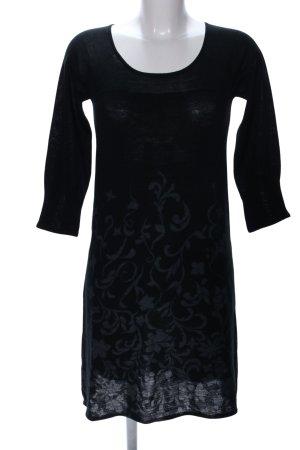 Mango Suit Abito di maglia nero motivo floreale stile professionale