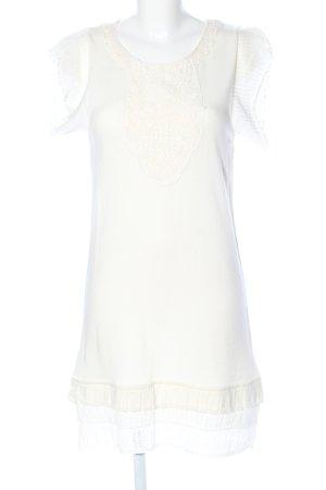Mango Suit Strickkleid wollweiß-weiß Elegant