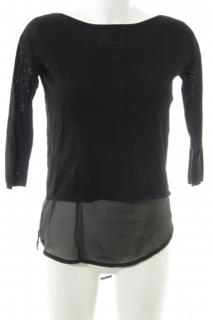 Mango Suit Strickpullover schwarz Casual-Look