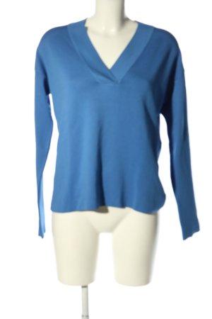Mango Suit Strickpullover blau Casual-Look