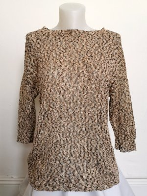 Mango Suit Strickpullover mit goldenen Highlights (Gr. M)