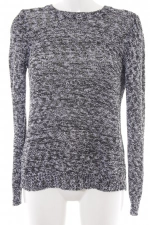 Mango Suit Strickpullover schwarz-weiß Webmuster Casual-Look
