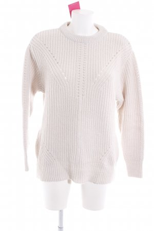 Mango Suit Strickpullover wollweiß Casual-Look