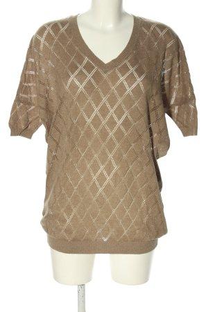 Mango Suit Strickshirt braun Karomuster Casual-Look