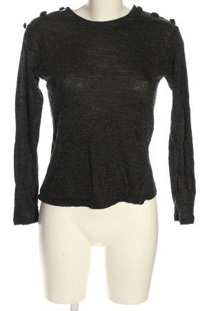 Mango Suit Camicia maglia nero puntinato stile casual