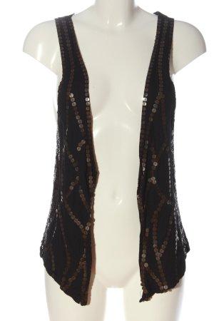 Mango Suit Strickweste schwarz-bronzefarben Casual-Look