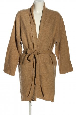 Mango Suit Knitted Wrap Cardigan brown flecked casual look