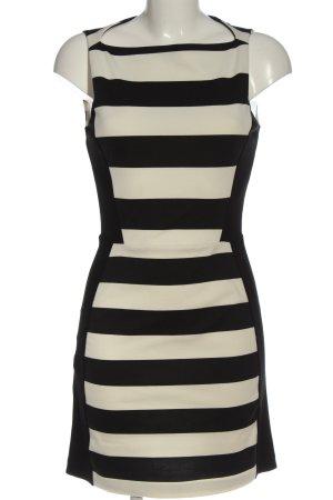 Mango Suit Bleistiftkleid weiß-schwarz Streifenmuster Casual-Look