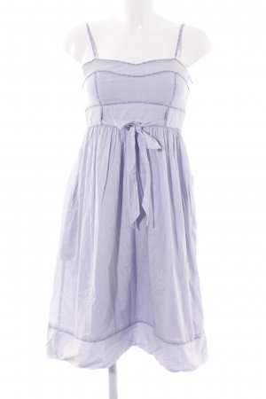 Mango Suit Trägerkleid weiß-himmelblau Streifenmuster Casual-Look