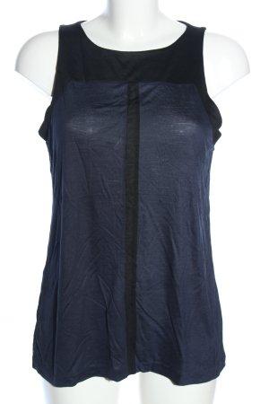 Mango Suit Trägertop schwarz-blau Casual-Look