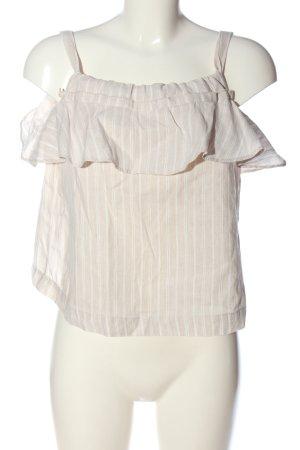 Mango Suit Trägertop creme-weiß Streifenmuster Casual-Look