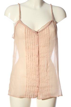 Mango Suit Transparenz-Bluse pink Elegant