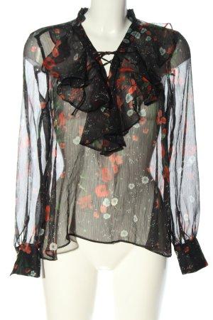 Mango Suit Transparenz-Bluse Allover-Druck Casual-Look