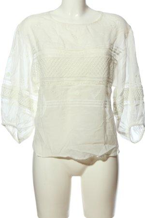 Mango Suit Transparent Blouse white casual look