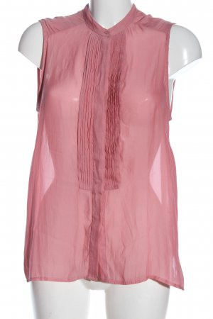 Mango Suit Transparenz-Bluse pink Casual-Look