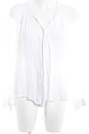 Mango Suit Transparenz-Bluse weiß Casual-Look