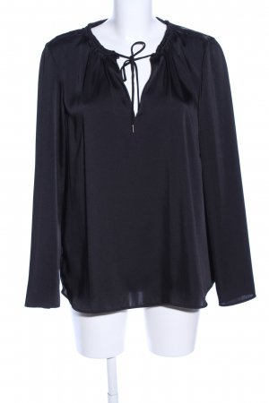 Mango Suit Tunikabluse schwarz Casual-Look