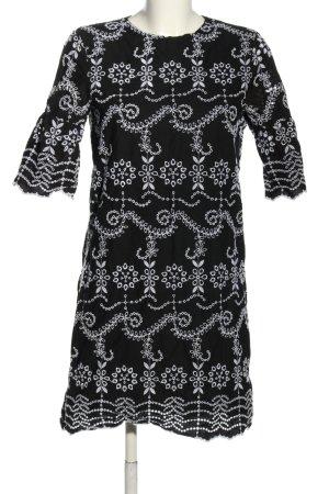 Mango Suit Tunikakleid schwarz-weiß Casual-Look