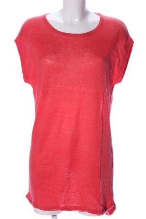 Mango Suit Vestido tipo túnica rojo look casual