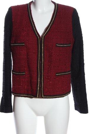 Mango Suit Tweed Blazer red-black business style