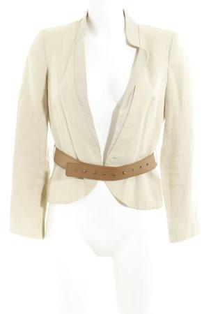 Mango Suit Tweed Blazer cream-oatmeal casual look