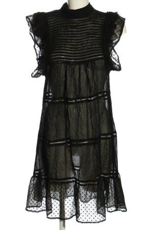 Mango Suit Volantkleid schwarz Casual-Look
