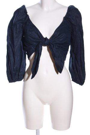 Mango Suit Wickel-Bluse blau Casual-Look