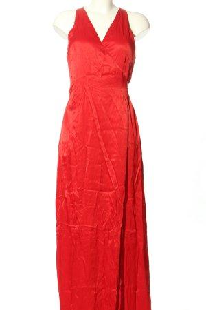 Mango Suit Vestido cruzado rojo elegante