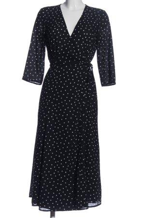 Mango Suit Wraparound black-white spot pattern casual look
