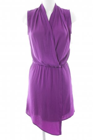 Mango Suit Wickelkleid lila Casual-Look