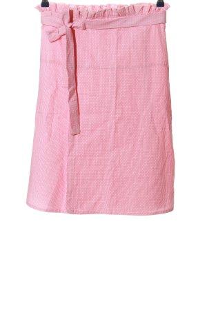 Mango Suit Wickelrock pink-weiß Allover-Druck Casual-Look