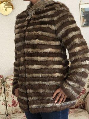 Mango Suit Veste en fourrure brun-marron clair