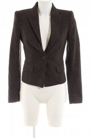 Mango Suit Woll-Blazer braun Allover-Druck Business-Look