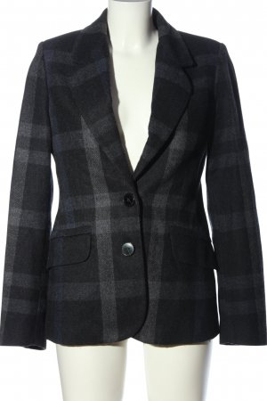 Mango Suit Woll-Blazer schwarz-hellgrau Allover-Druck Business-Look