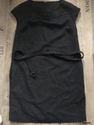 Mango Suit Robe en laine gris anthracite