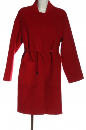 Mango Suit Wollmantel rot Casual-Look